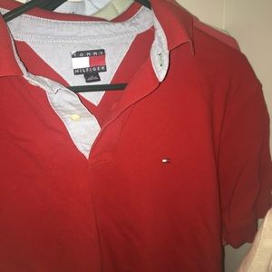 Tommy Hilfiger Shirts - Red tommy polo